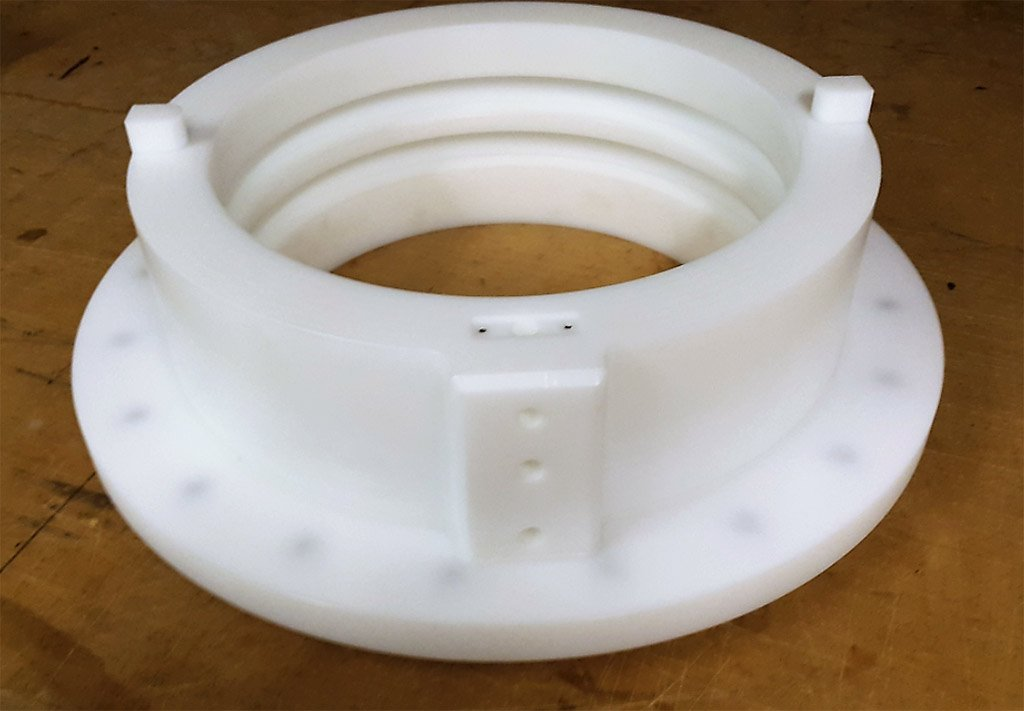 polyethylene white round inflatable seal housing